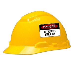 Danger Stupid Kills Hard Hat Helmet Sticker